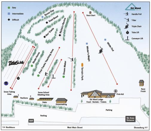 Ski Ward Trail Map