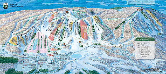 Boyne Highlands Mapa tras