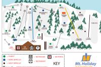 Mt. Holiday Ski Area Trail Map