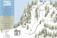 Mulligan's Hollow Ski Bowl Mapa tras