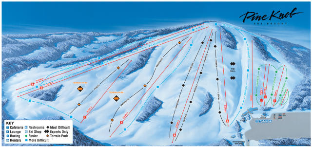 Pine Knob Ski Resort Piste Map