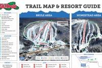 Ski Brule Mapa tras