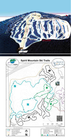 Spirit Mountain Mapa tras