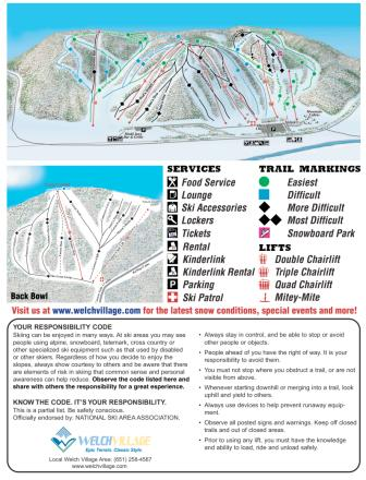 Welch Village Piste Map