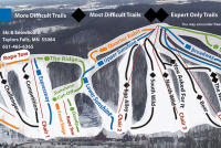 Wild Mountain Ski and Snowboard Area Pistenplan