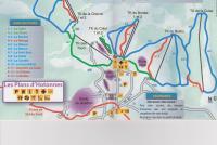 Les Plans d'Hotonnes - Plateau de Retord Pistenplan