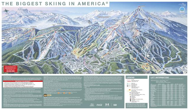 Big Sky Resort Trail Map