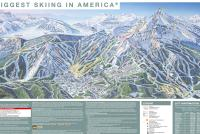 Big Sky Resort Mapa tras