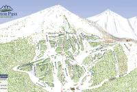 Teton Pass Ski Resort Mapa tras