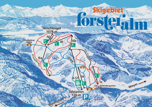 Forsteralm Trail Map