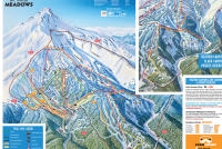 Mt. Hood Meadows Mapa tras