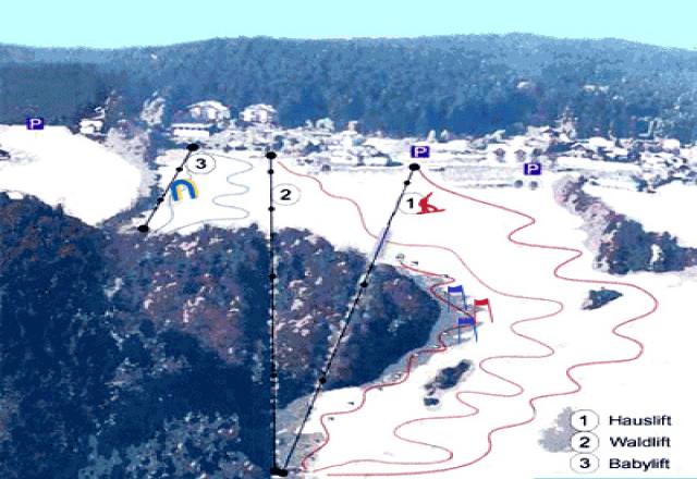 Schilifte Kirchschlag Trail Map