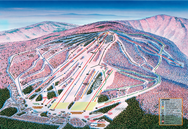 Cranmore Mountain Resort Mapa tras