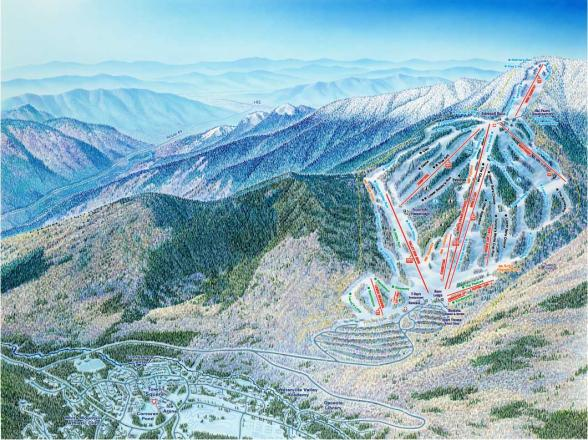 Waterville Valley Mappa piste