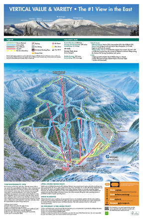 Wildcat Mountain Plan des pistes