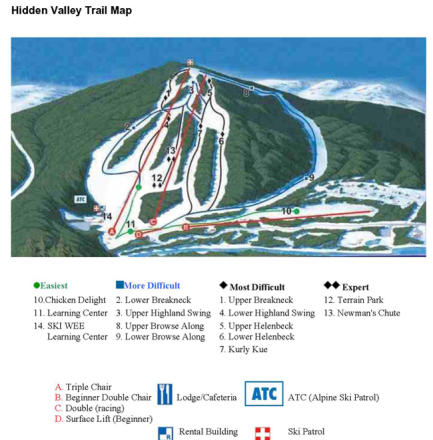 The Hidden Valley Club Trail Map