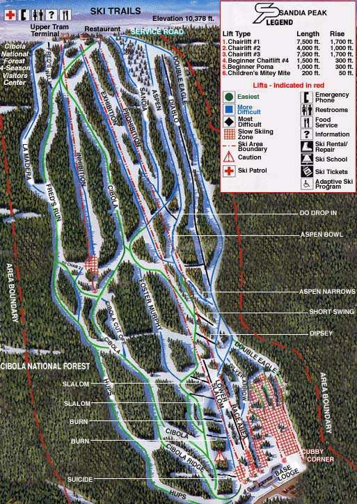 Sandia Peak Trail Map