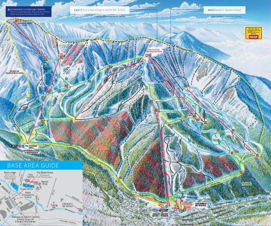 Taos Ski Valley Piste Map