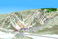 Holiday Valley Mapa zjazdoviek