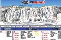 Kissing Bridge Piste Map