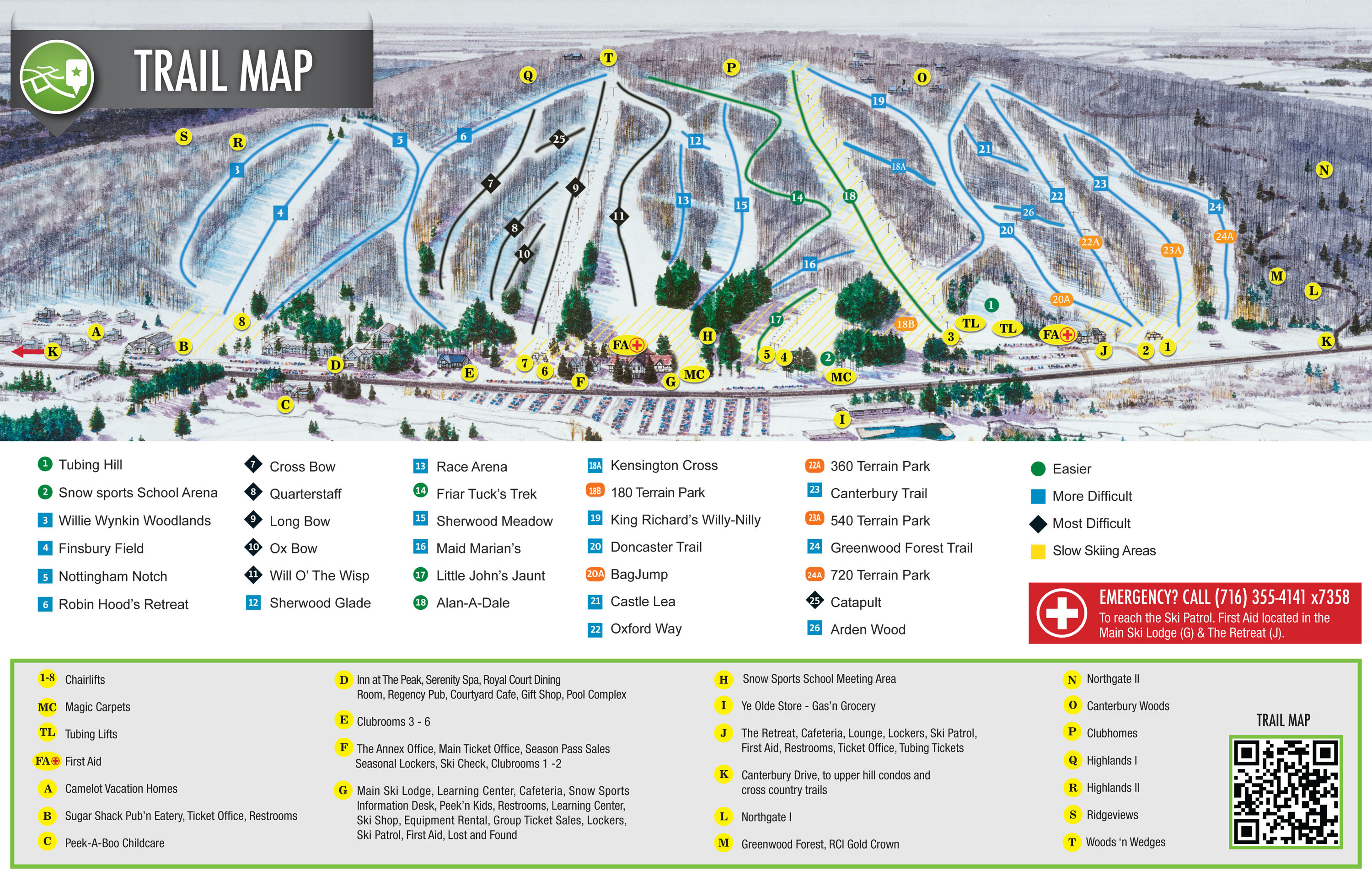 Peek N Peak Trail Map