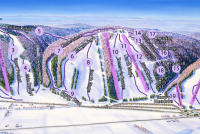 Snow Ridge Piste Map