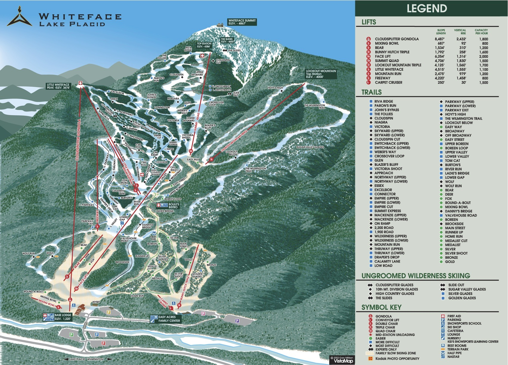 Image result for Whiteface Mountain trail map