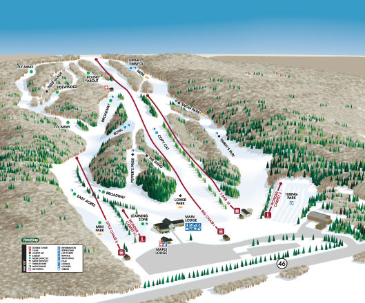 Woods Valley Ski Area Trail Map