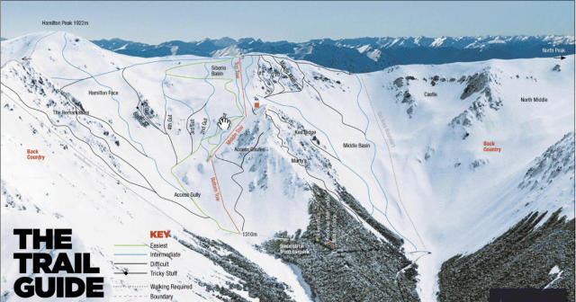 Craigieburn Valley Ski Area Trail Map