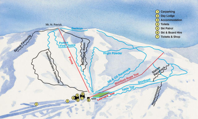 Hanmer Springs Ski Area Piste Map