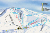 Hanmer Springs Ski Area Mapa zjazdoviek
