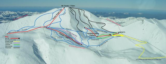 Mt. Lyford Alpine Resort Piste Map