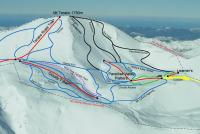 Mt. Lyford Alpine Resort Plan des pistes