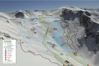 Ohau Snow Fields Plan des pistes