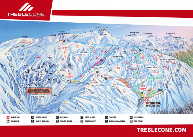 Treble Cone Piste Map