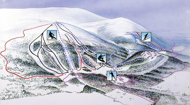 Dundret Piste Map