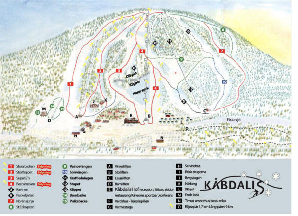 Kåbdalis Trail Map