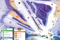 Appalachian Ski Mountain Mapa tras