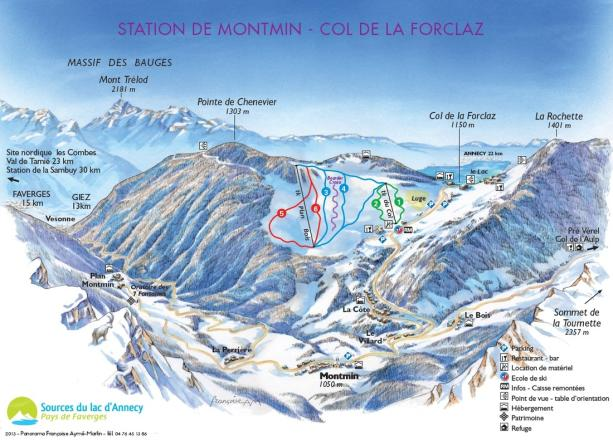 Montmin - Col de la Forclaz Trail Map