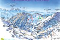 Montmin - Col de la Forclaz Mapa zjazdoviek