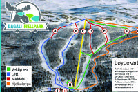 Dagali Skisenter Piste Map