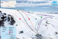 Fonna Glacier Mapa tras