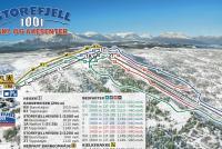 Gol - Golsfjellet Trail Map