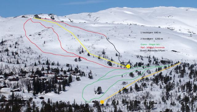 Hallbjønn Alpine Centre Piste Map