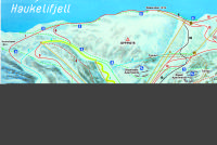 Haukeli Skisenter Trail Map