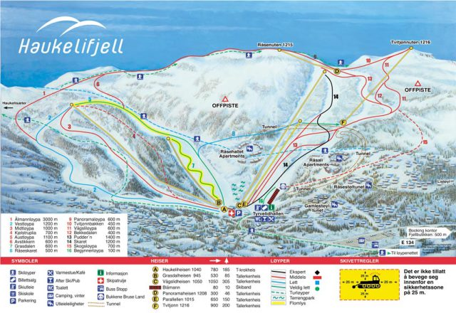 Haukelifjell Trail Map