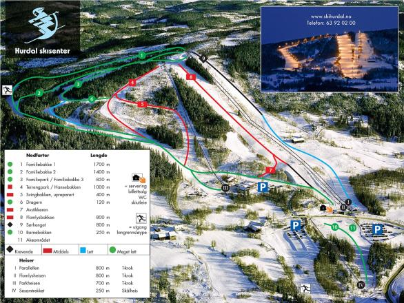 Hurdal Skisenter Trail Map