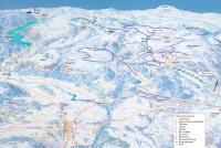 Lifjell Skisenter Mapa zjazdoviek