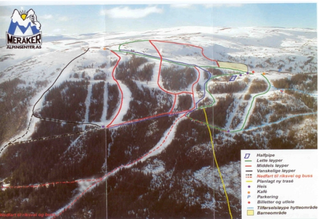 Meråker Trail Map