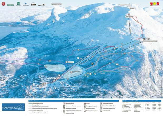 Narvik Piste Map